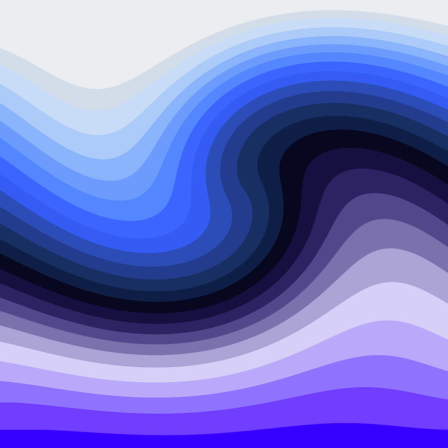 Abstract Digital Art - Cool Wave by Jeremy Edsall