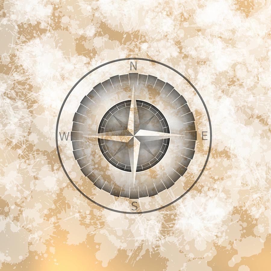 Cooper Mist Compass Digital Art