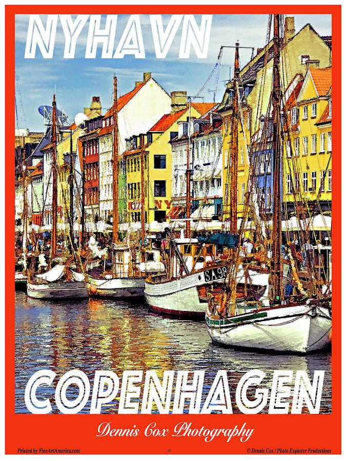 Copenhagen Travel Poster Photograph