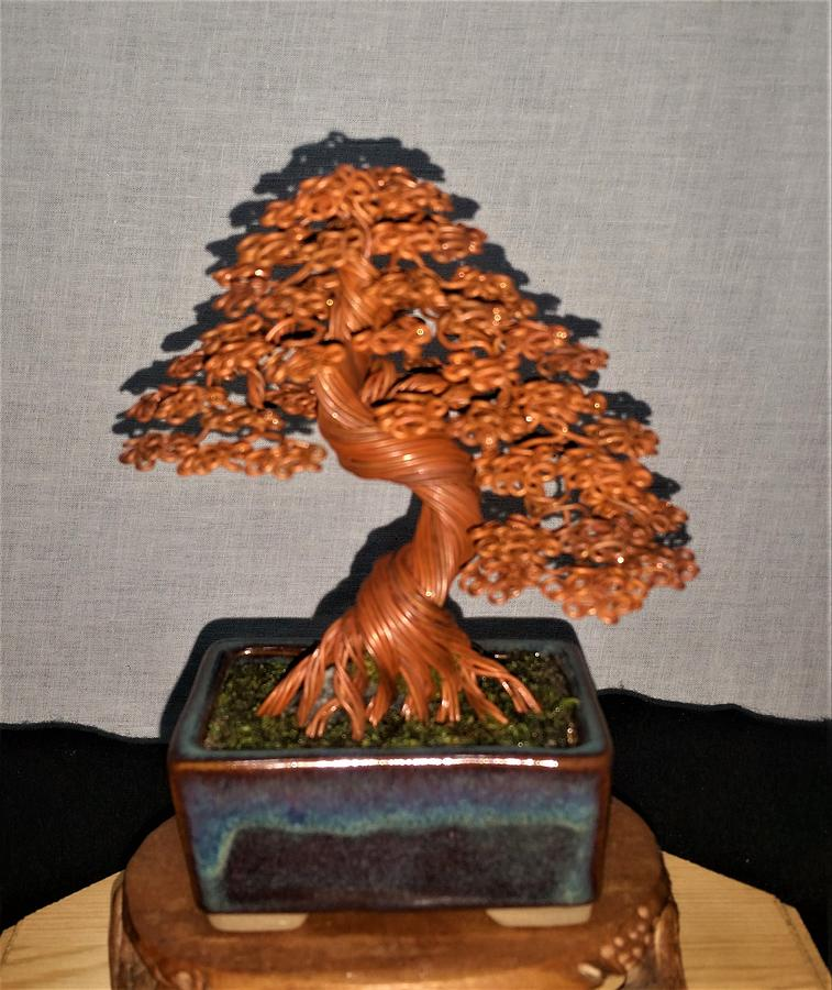Copper Wire Tree Sculpture 198 By Rick Skursky Sculpture By Ricks Tree Art