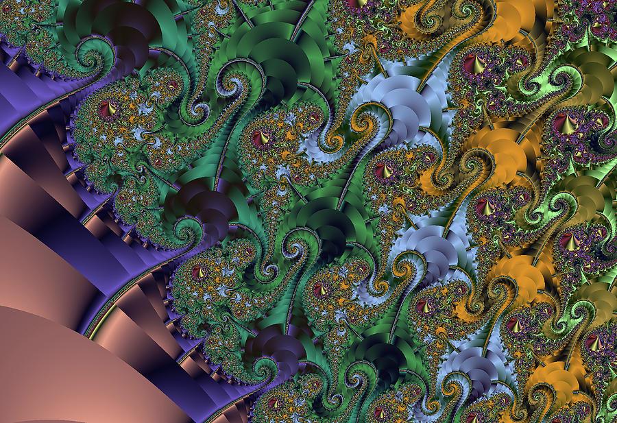 Coral And Seaweed Fractal Design Digital Art