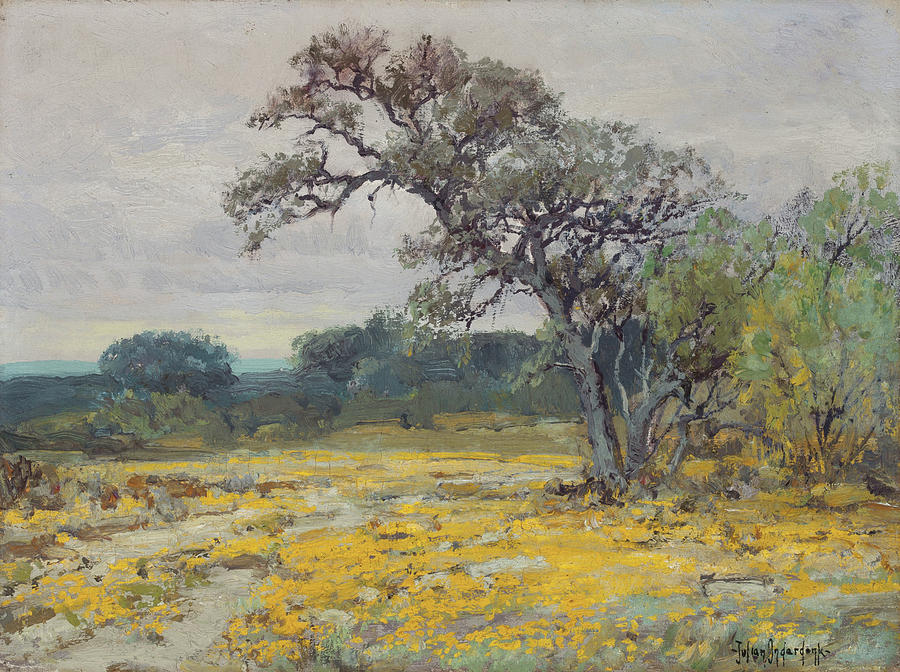 Coreopsis Near San Antonio Texas By Julian Onderdonk 1919 Painting