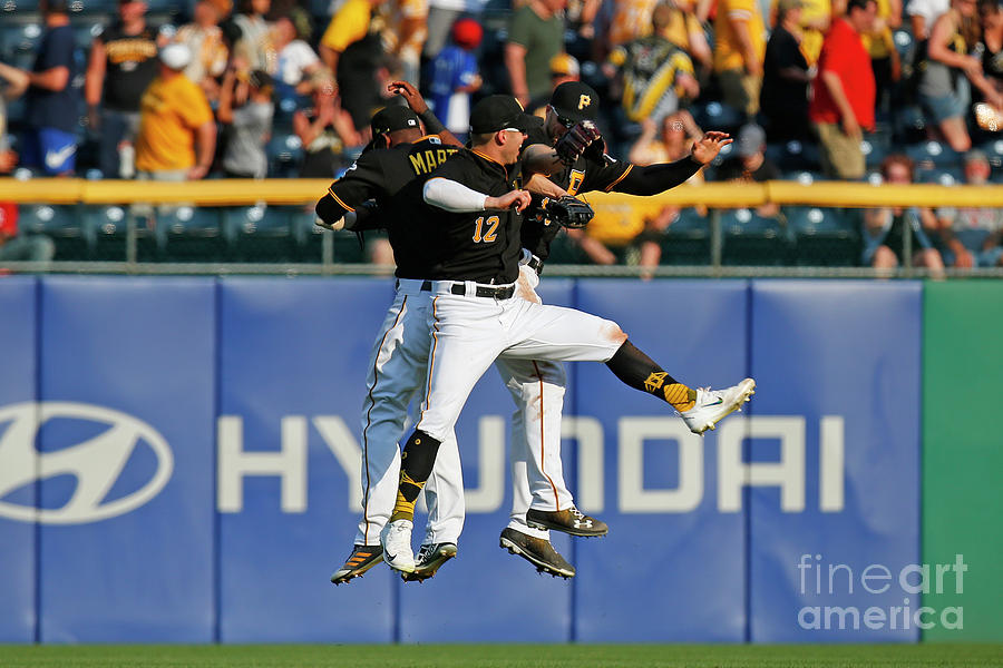 Corey Dickerson And Starling Marte Photograph by Justin K. Aller