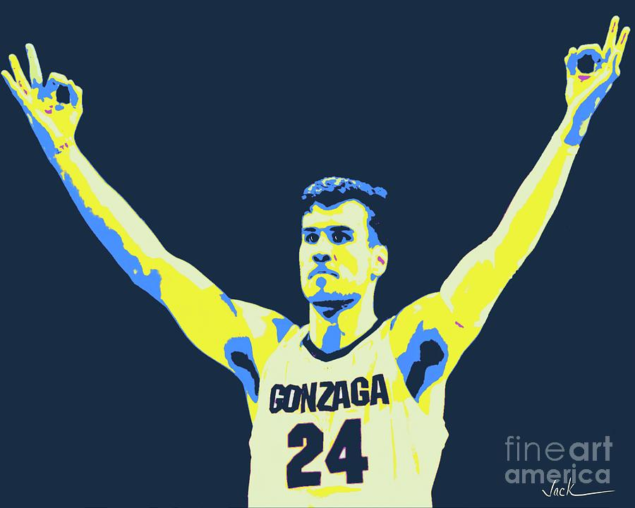 Gonzaga Painting - Corey Kispert by Jack Bunds