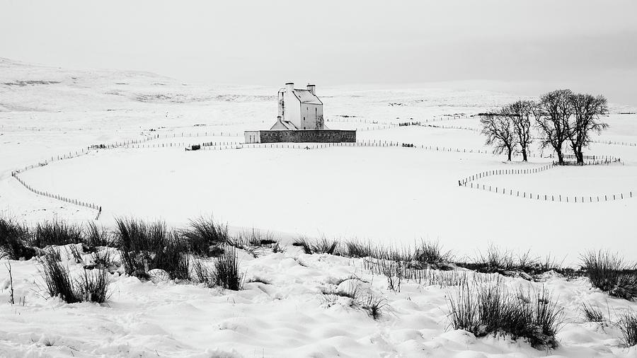Aberdeenshire Photograph - Corgarff Castle in Mono by John Frid
