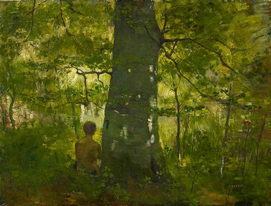 Corinth Lovis 1858 Tapiau East Prussia  1925  Im Walde In The Forest 1886 Painting