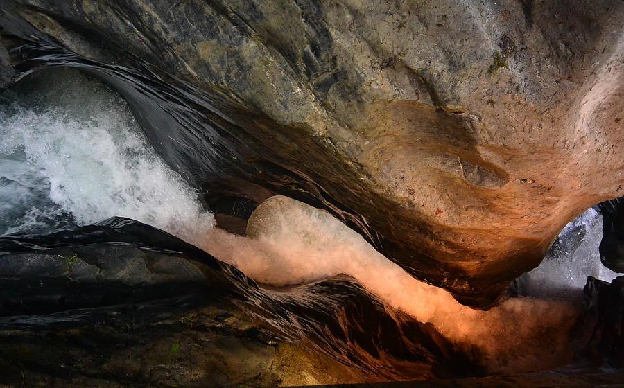 Waterfall Photograph - Corkscrew Waterfall - Switzerland by Two Small Potatoes