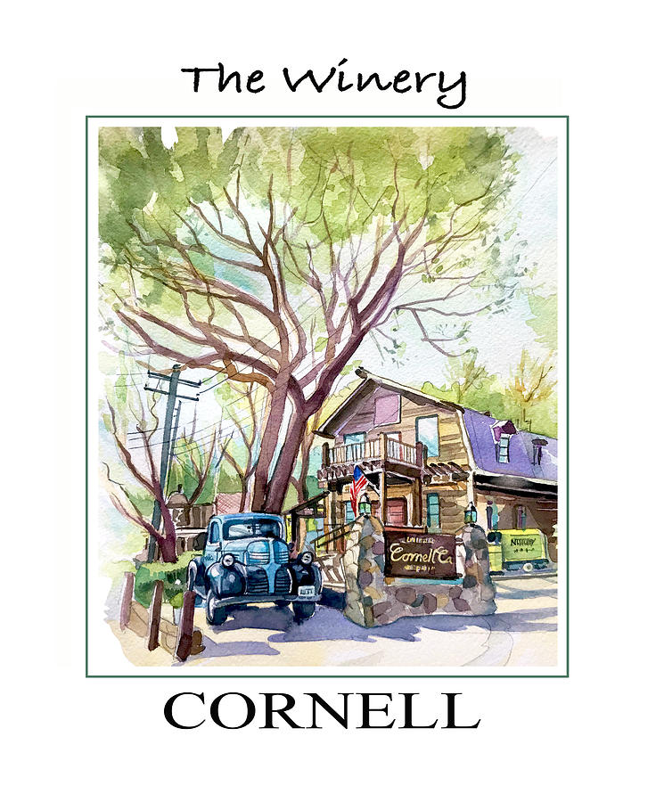 Cornell Winery Poster Painting