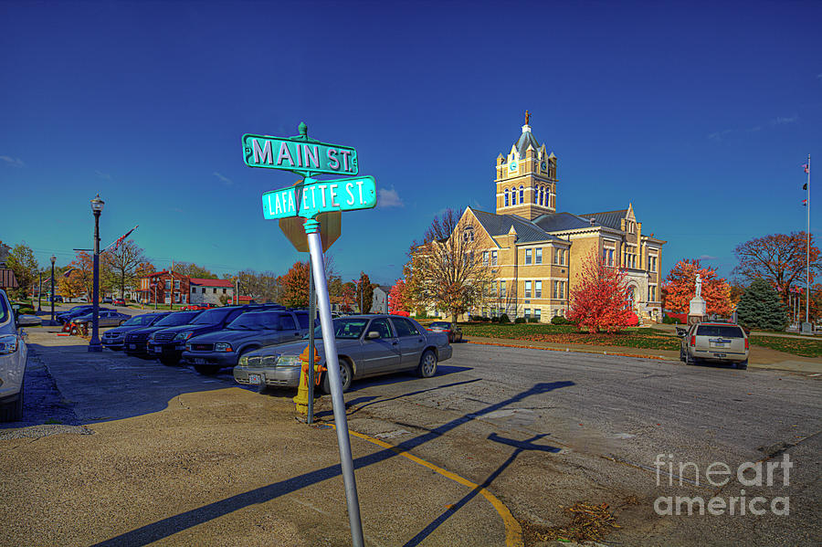 Travel Photograph - Corner Of Main And Lafayette by Larry Braun