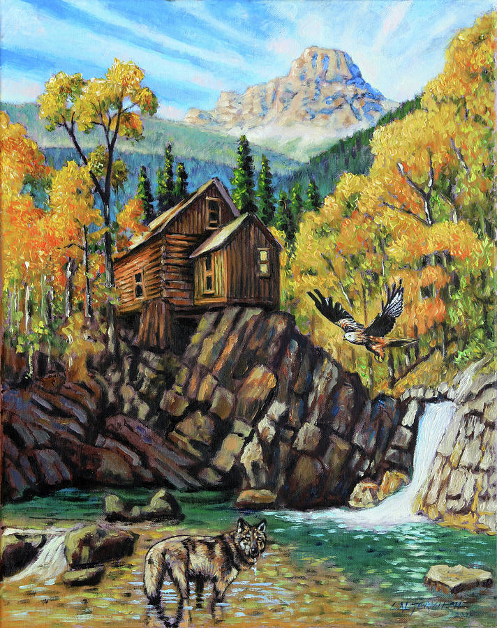 Rocky Mountains Painting - Corona Get Away by John Lautermilch