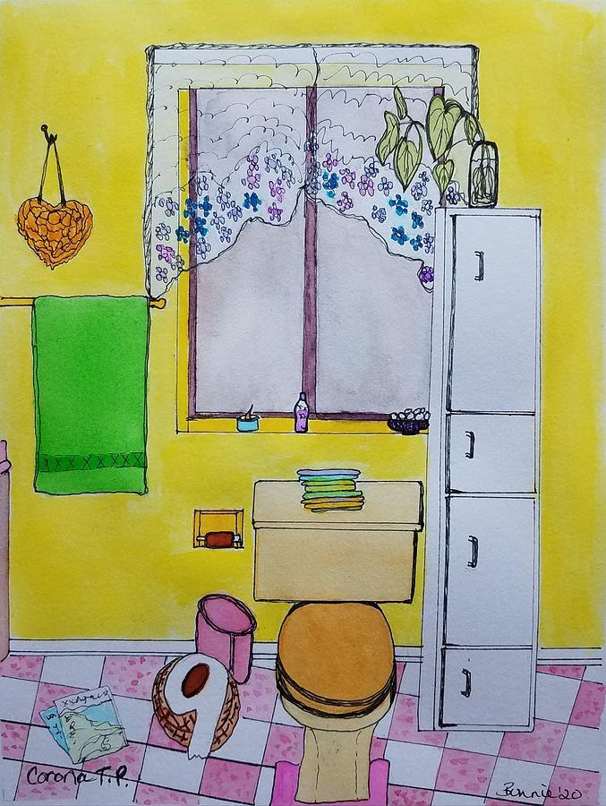 Bathroom Mixed Media - Corona T.P. by Bonnie McKeegan