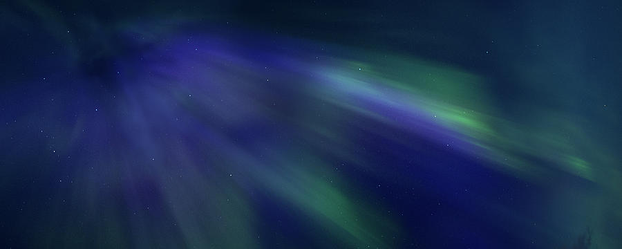 Northern Lights Photograph - Coronal Aurora Borealis by Mortimer Mackenzie