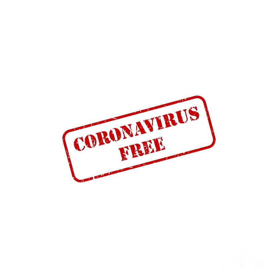 Coronavirus Digital Art - Coronavirus Free Rubber Stamp Vector by THP Creative