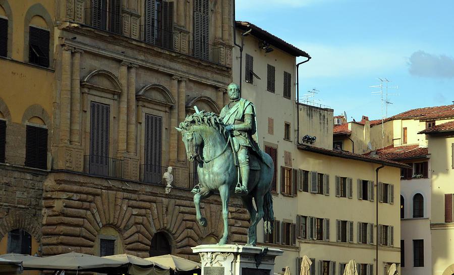 Cosimo I Bronze Equestrian Monument Piazza Della Signoria Florence Italy by Shawn O'Brien
