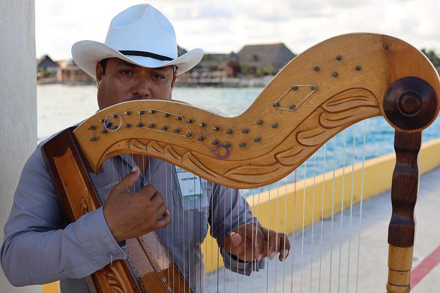 Costa Maya Harp Player by Blair Damson