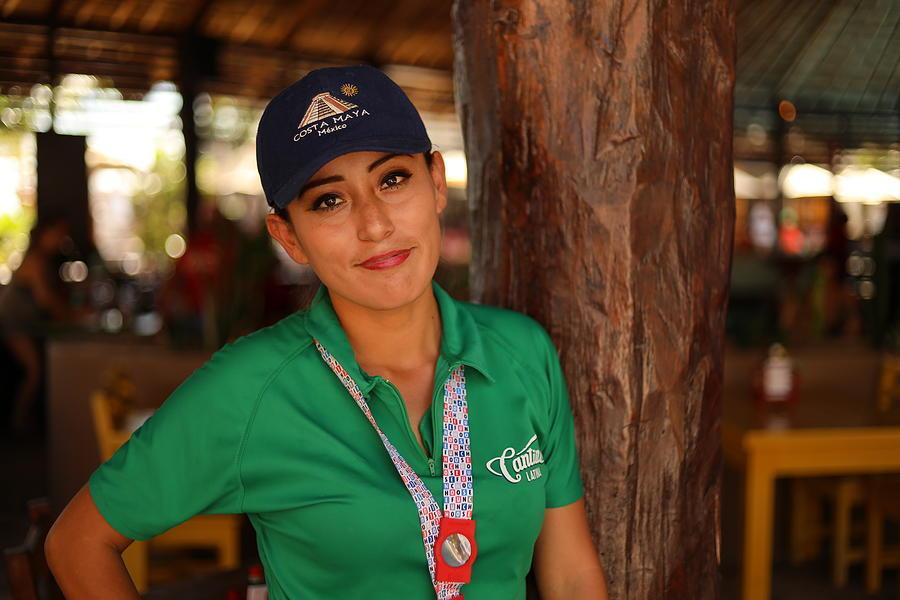 Costa Maya Waitress  by Blair Damson