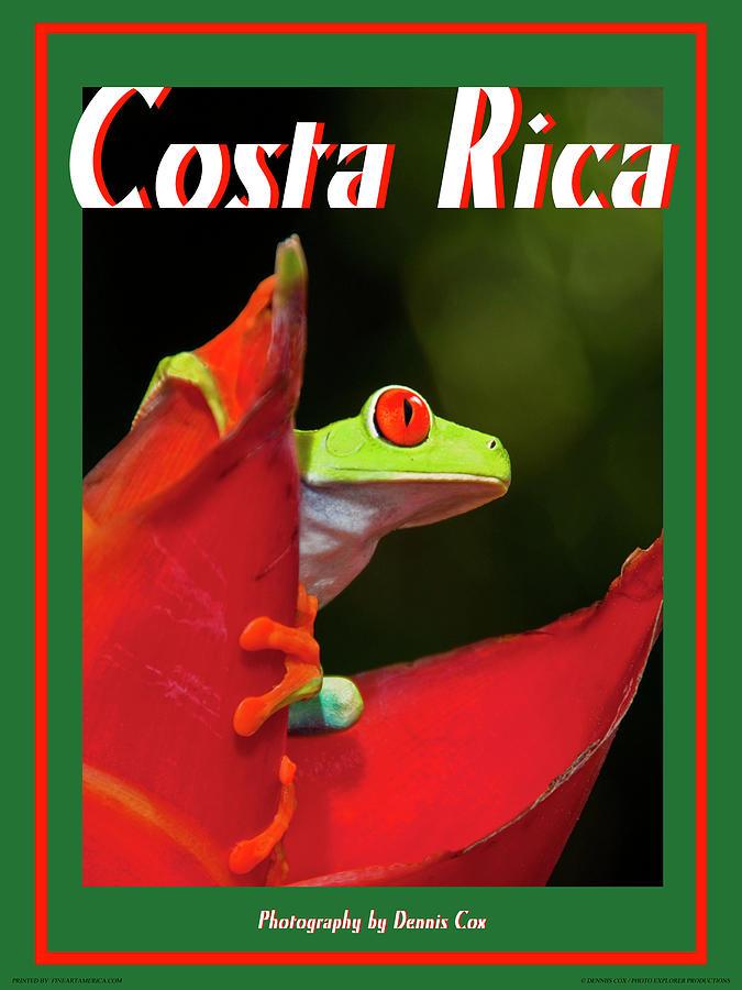 Costa Rica Travel Poster Photograph