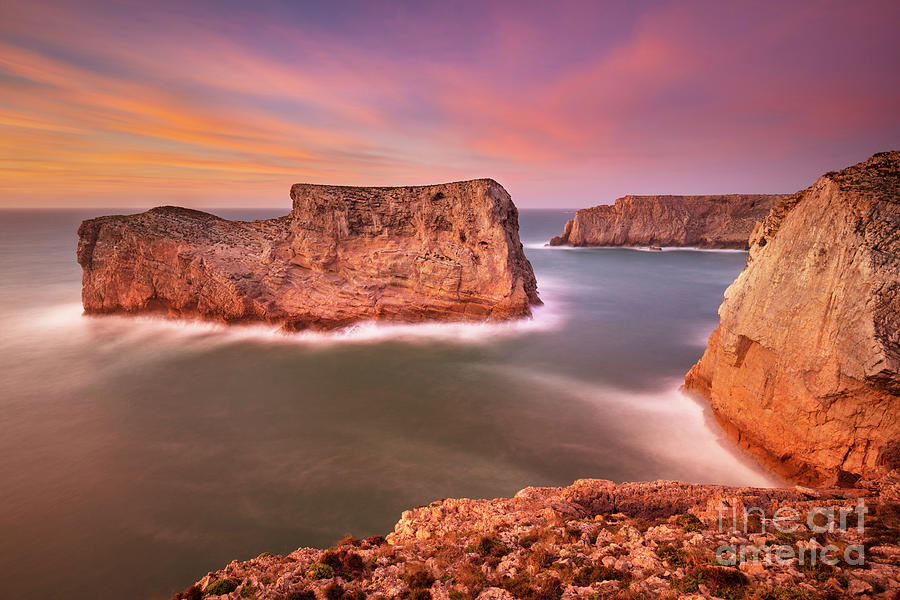 Costa Vincentina sunset, Portuguese Algarve by Neale And Judith Clark
