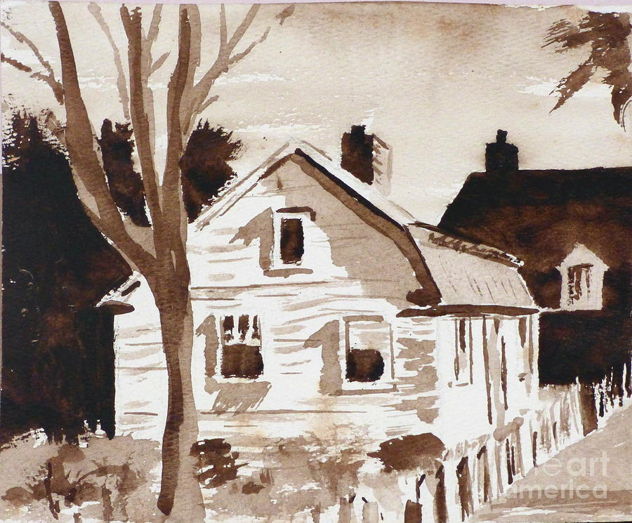 Cottage - A Watercolor by Eleanor Robinson