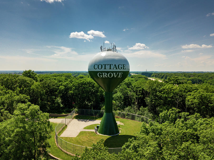 Cottage Grove Water Tower Photograph