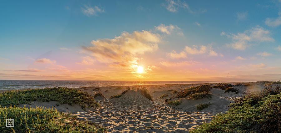 Oxnard Photograph - Cotton Candy Sunset Oxnard Dunes by Tim Hungerford