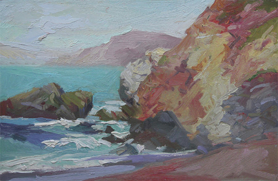Cottonwood Cove Catalina Painting by Betty Jean Billups