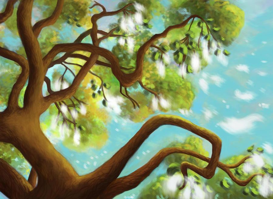 Cottonwood Tree Digital Art - Cottonwood Daydream by Brianna Moore