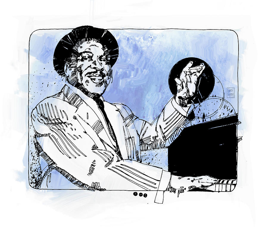 Count Basie at Piano by Garth Glazier