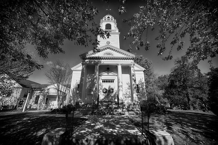Country Church in Black And White by Joann Vitali