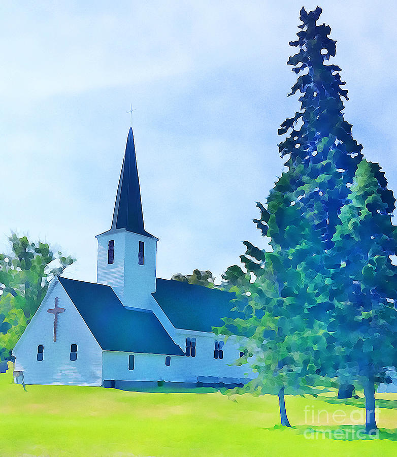 Country Church in Minnesota by Tracy Ruckman