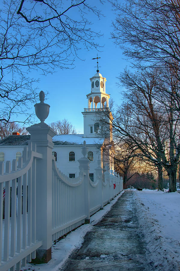 Country Church in Winter - Bennington, Vermont by Joann Vitali