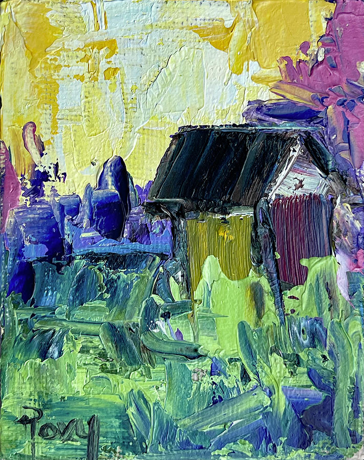 Country Shack Painting