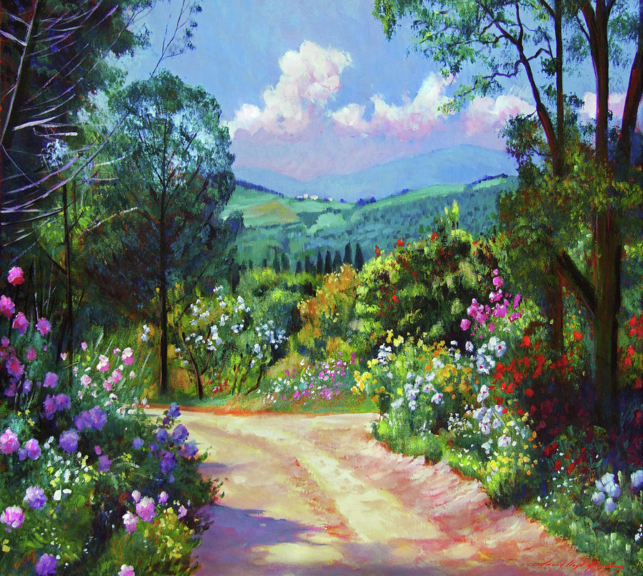 COUNTRY SPRING GARDEN ROAD by David Lloyd Glover