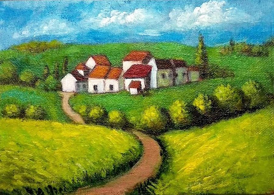 Countryside by Asha Sudhaker Shenoy
