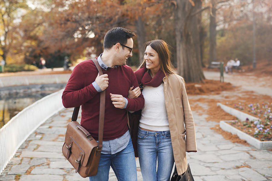 Couple in a walk Photograph by Jelena Danilovic