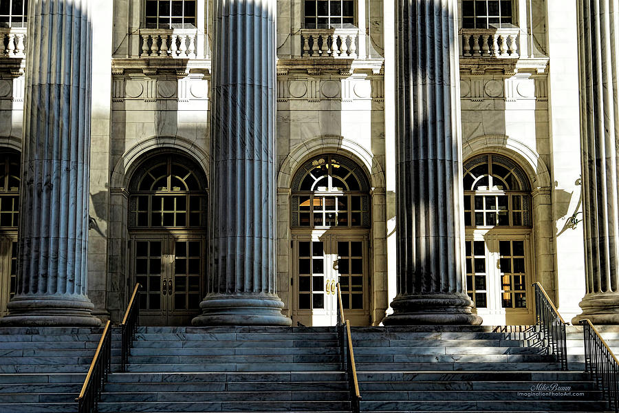 Courthouse Photograph - Courthouse Daybreak by Mike Braun