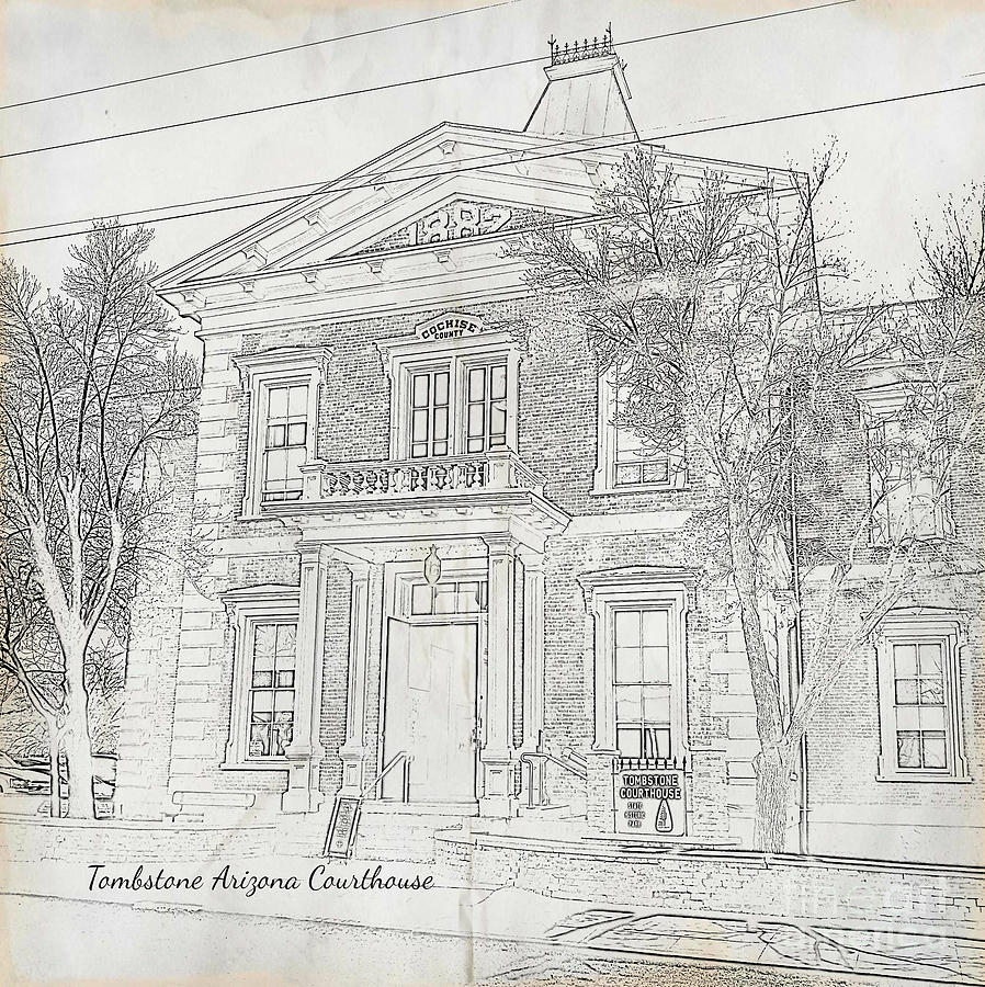 Courthouse in Tombstone Arizona by Tracy Ruckman
