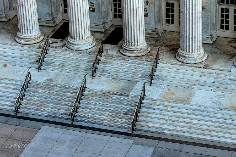 Courthouse Photograph - Courthouse Steps by Mike Braun
