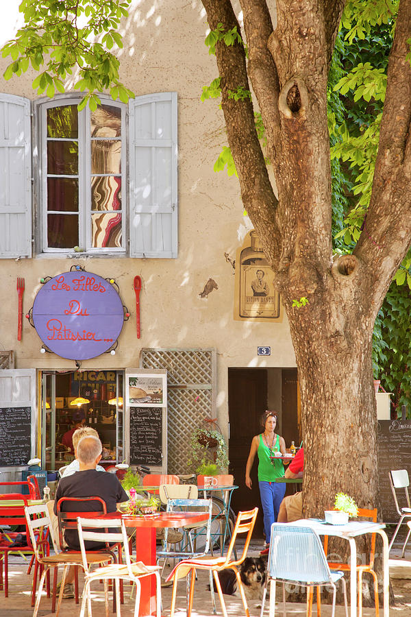 Courtyard Cafe - Provence France Photograph