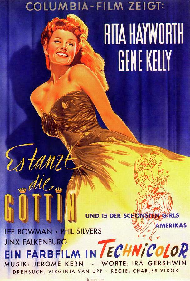 cover Girl, With Rita Hayworth And Gene Kelly, 1944 Mixed Media