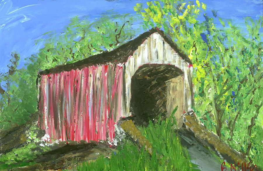 Covered Bridge Painting - Covered Bridge by Britt Miller