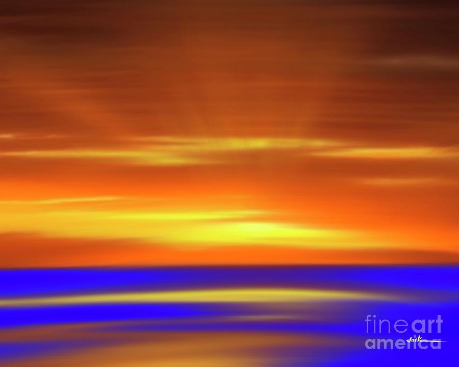 Sunrise Painting - Covid Sunrise 26 by Jack Bunds