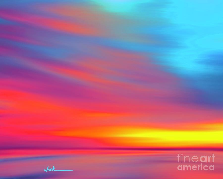 Sunset Painting - Covid Sunset 15 by Jack Bunds