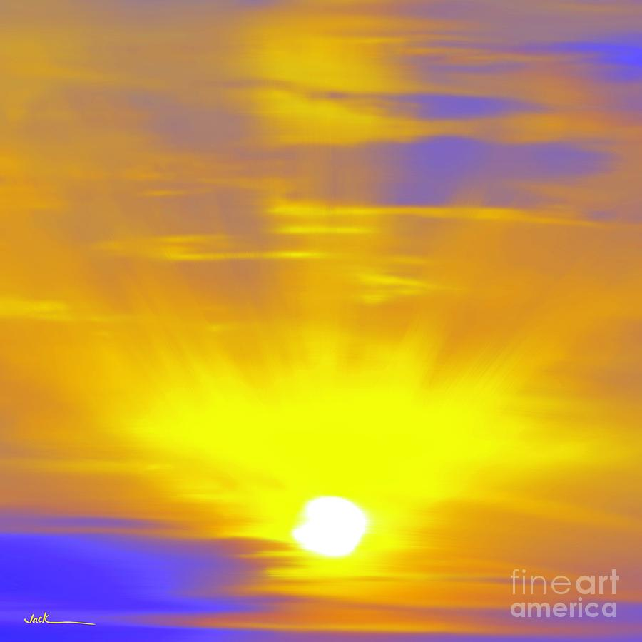 Sunset Painting - Covid Sunset 17 by Jack Bunds