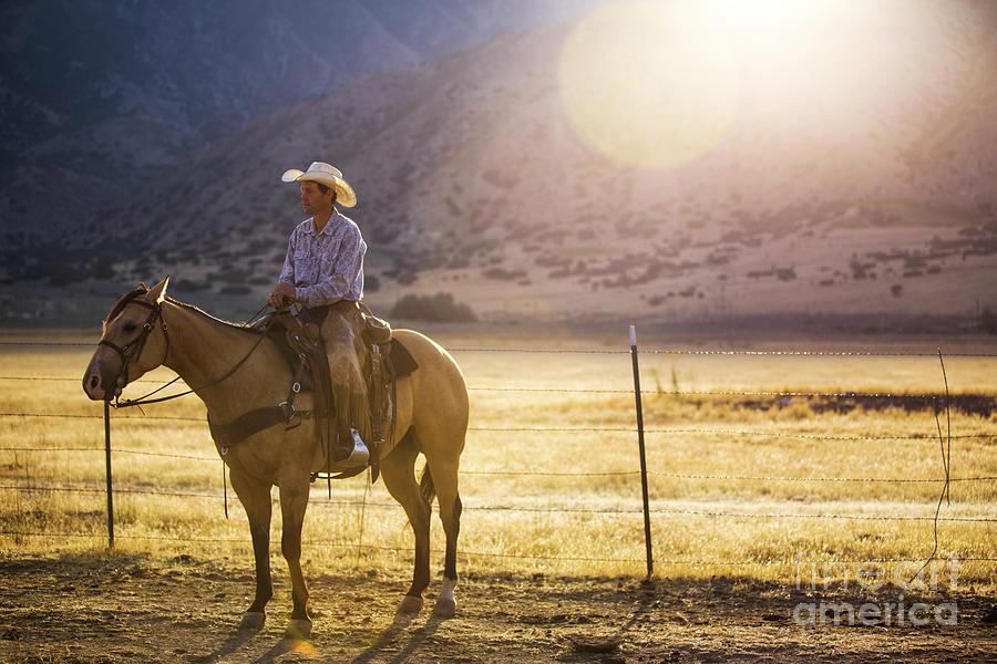Cowboy At Sunrise Photograph