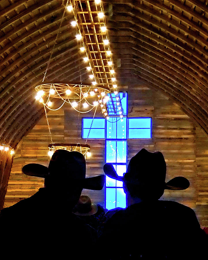 Cowboys at the Barn by Nadine Lewis