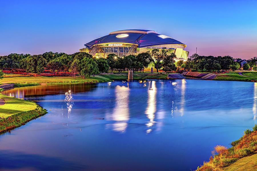 Cowboys Stadium At Dusk - Arlington Texas Photograph