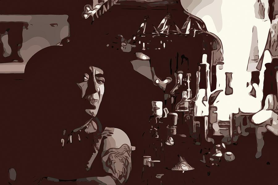 Cowboys, Whiskey And Disdain Digital Art