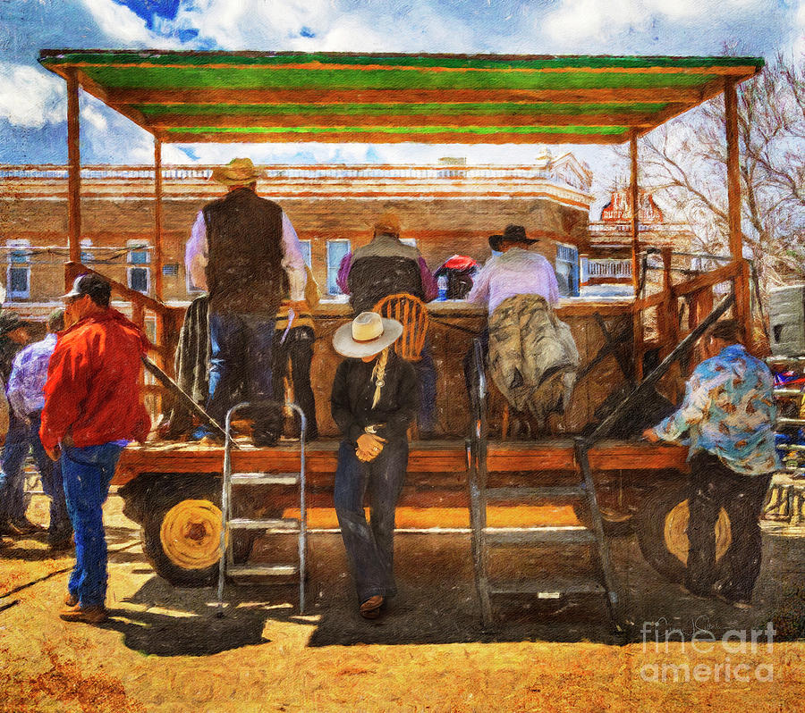 Cowgirl Short Nap .... Behind the Horse Auction Booth by Craig J Satterlee