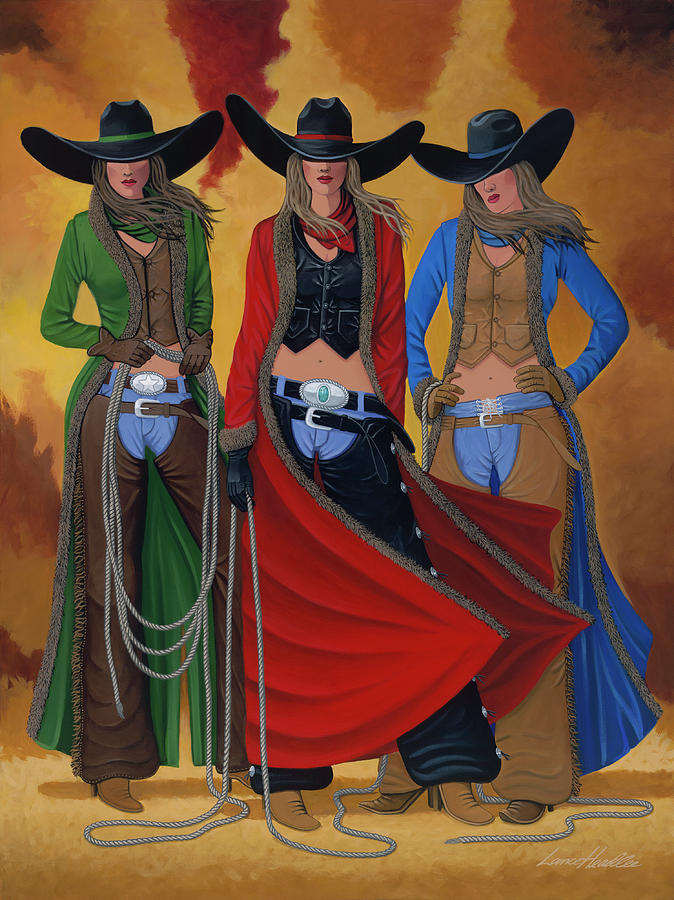 Cowgirl Painting - Cowgirl Up by Lance Headlee